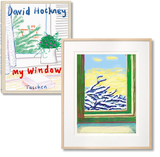 【Art Edition】David Hockney. My Window. Art C,大卫霍克尼,窗户 艺术品C